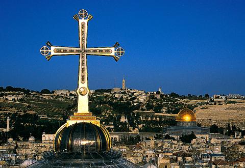 The Golgotha Cross, Church of the Holy Sepulcher, Jerusalem, 1996 - photo: Markus Bollen