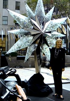 "Nadja Swarovski unveiled The Swarovski Star 2009 live on the ""today show"", Rockefeller Plaza, November 18th, 2009"
