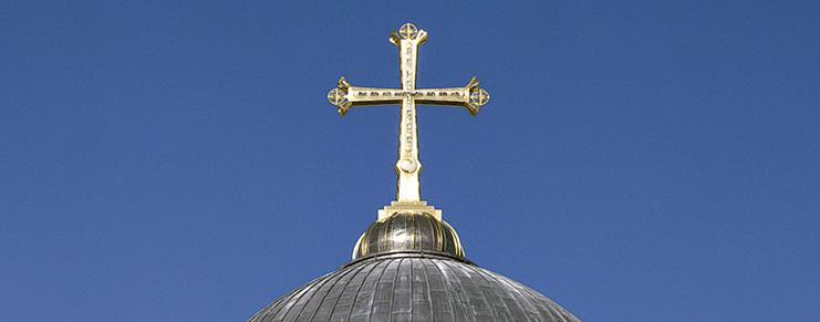 The Golgotha Cross, Chruch of the Holy Sepulcher, Jerusalem - photo: Markus Bollen