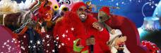 Cee-Lo Green and The Muppets live performing on NBC´s live broadcast stage Christmas in Rockefeller Center at the official Rockefeller Center tree lighting ceremony, Rockefeller Plaza, New York, USA, Nov 28th 2012   © dpa picture-alliance